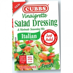 Cubbs Vinaigrette Salad Dressing & Marinade Seasoning Mix - Italian