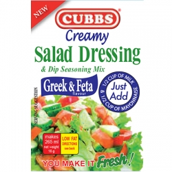 Cubbs Creamy Salad Dressing & Dip Seasoning Mix -  Greek & Feta