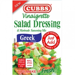 Cubbs Vinaigrette Salad Dressing & Marinade Seasoning Mix - Greek